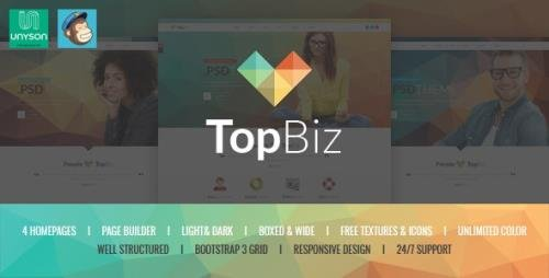ThemeForest - TopBiz v1.0 - Responsive Corporate WordPress Theme (Update: 3 September 20) - 17431325