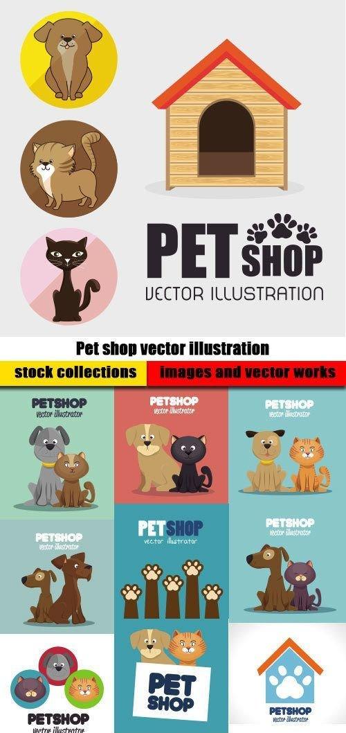 Pet shop vector illustration