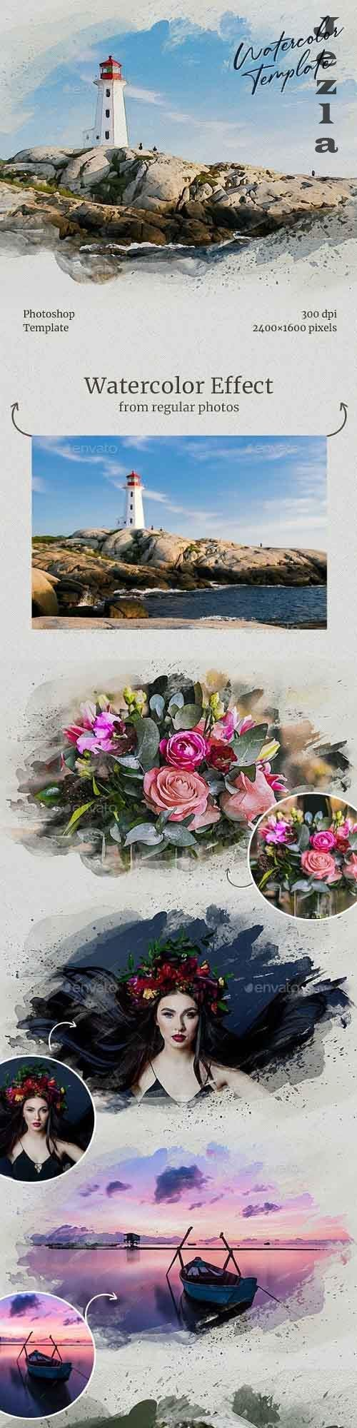 Watercolor from Photo Template 28663455