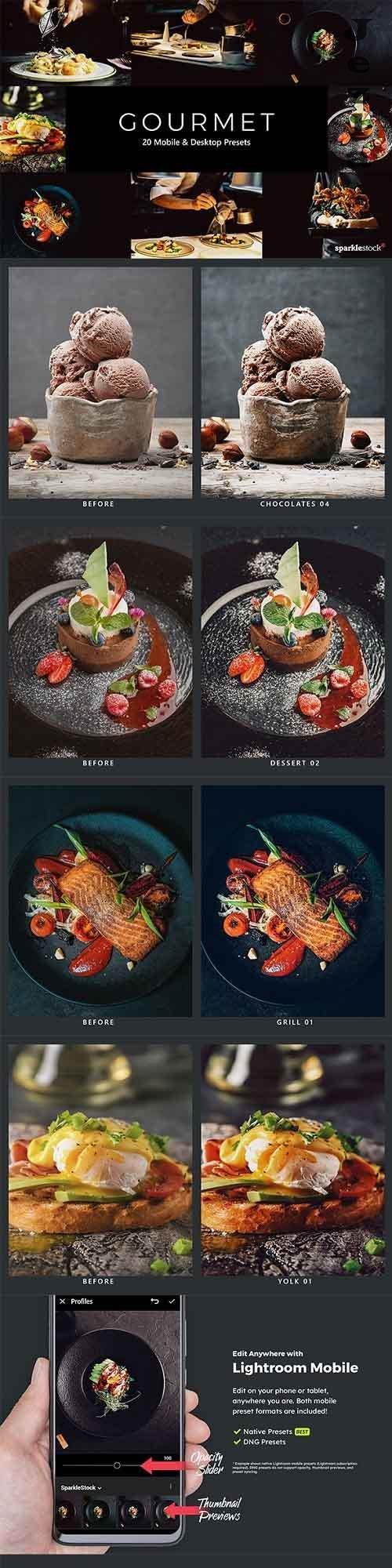 20 Gourmet Lightroom Presets & LUTs - 28618215 - 5410360