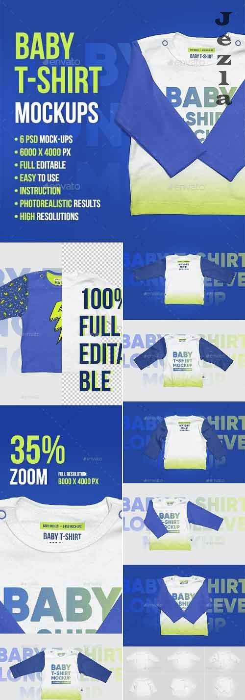 Baby T-Shirt Long Sleeve Mockups - 22444235 - 5336826