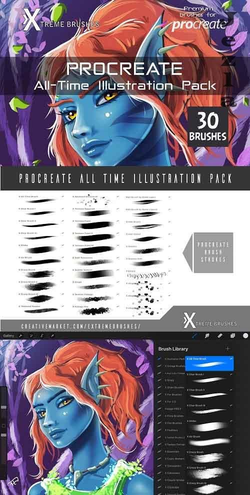 Procreate All-Time Illustration Pack 4477180