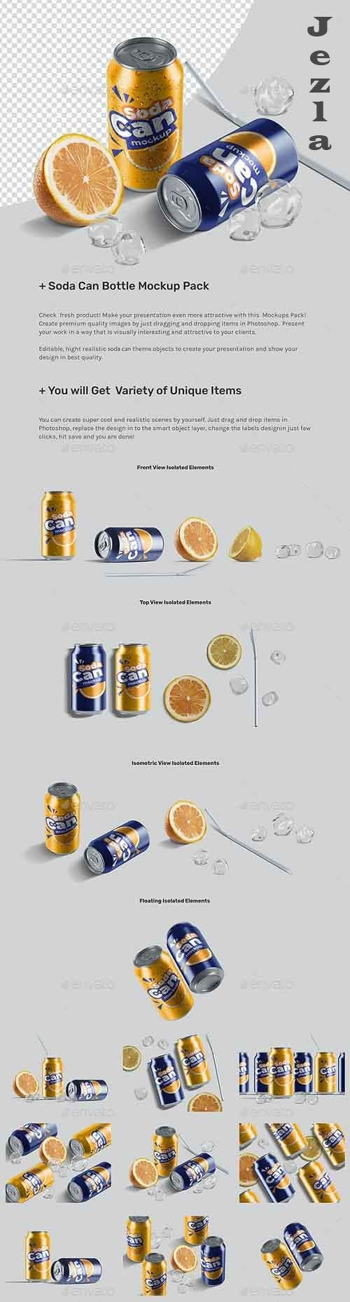 Soda Can Mockup Pack 26857279