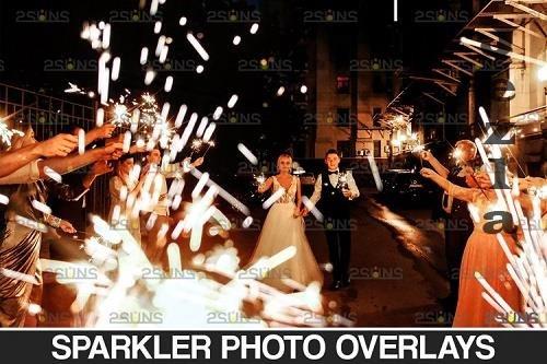 Wedding sparkler overlays Photoshop overlay - 934526