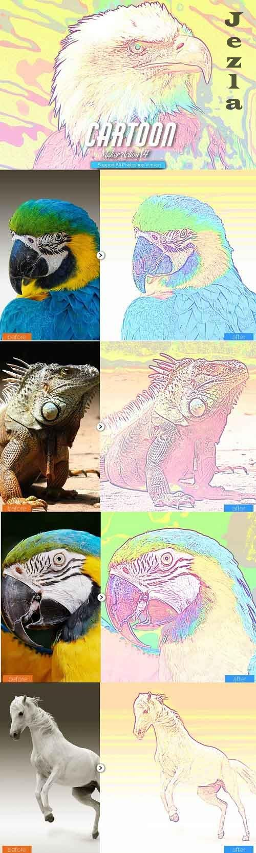 Cartoon Maker Photoshop Action V4 - 5457161
