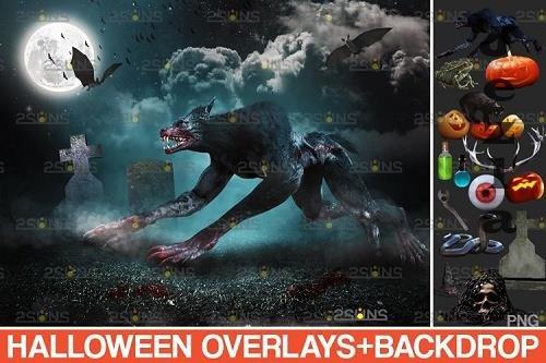 Halloween clipart Halloween overlay, Photoshop overlay - 934532