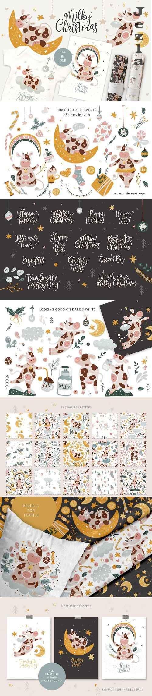 Milky Christmas. Christmas Cow Pack - 5461271