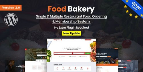 ThemeForest - FoodBakery v2.0 - Food Delivery Restaurant Directory WordPress Theme - 18970331 - NULLED