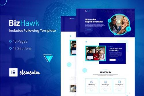 ThemeForest - BizHawk v1.0 - Corporate Agency Elementor Template Kit - 28725456