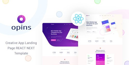 ThemeForest - Opins v1.0 - React Next App Landing Page Template - 28520326
