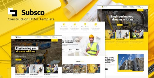 ThemeForest - Subsco v1.0 - Construction HTML Template - 28660799