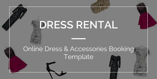 ThemeForest - DressRental v1.0 - Online Dress Accessories Booking Template - 19650411