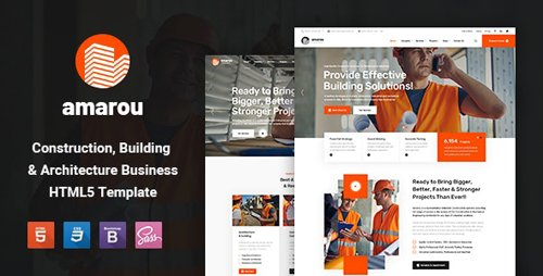 ThemeForest - Amarou v1.0 - Construction and Building HTML5 Template - 28281068