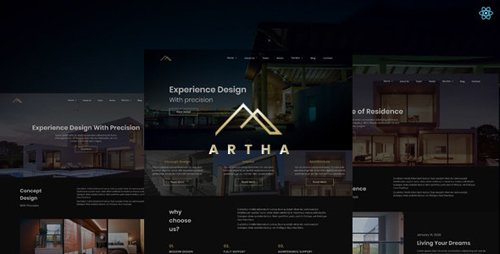 ThemeForest - Artha v1.0 - React Interactive Interior Template - 28432332