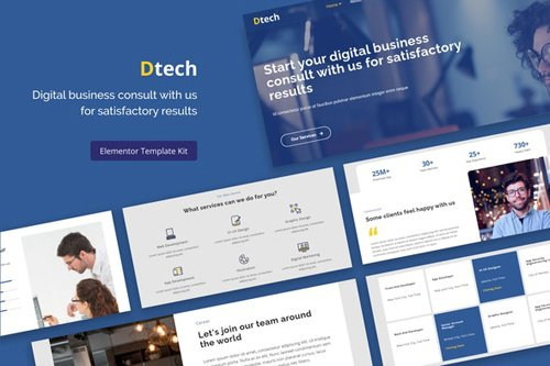 ThemeForest - Dtech v1.0 - Business Services Elementor Template Kit - 28179786