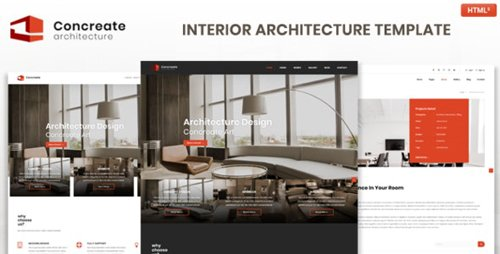 ThemeForest - Concreate v1.0 - Interior Architecture Interactive Template (Update: 12 February 19) - 22983725