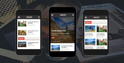 ThemeForest - Emagz v1.0 - News & Magazine Mobile Template - 18299353