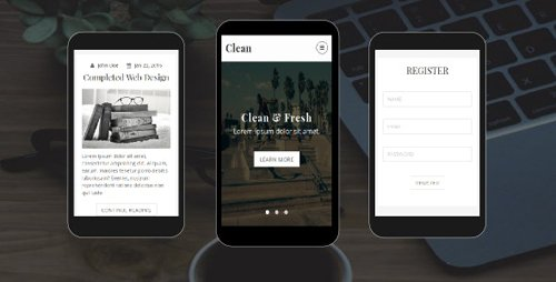 ThemeForest - Clean v1.0 - Personal Blog Mobile Template - 18445980
