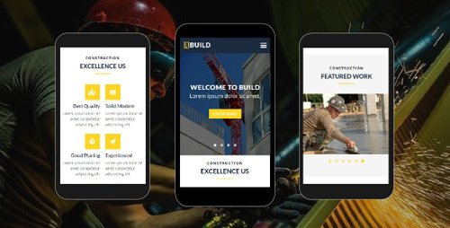 ThemeForest - Build v1.0 - Construction Mobile Template - 18530849