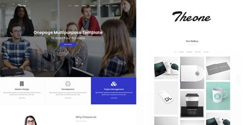 ThemeForest - Theone v1.0 - Onepage Multiporpose Template - 20847354