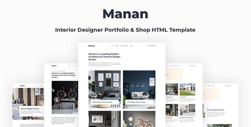 ThemeForest - Manan v1.0 - Interior Designer HTML Template - 28739121