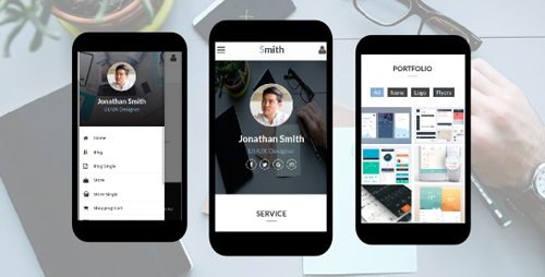 ThemeForest - Smith v1.0 - Personal vCard, CV, Resume, Profile Mobile Template - 18858884