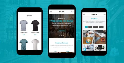 ThemeForest - Bara v1.0 - Creative Mobile Template - 19127049