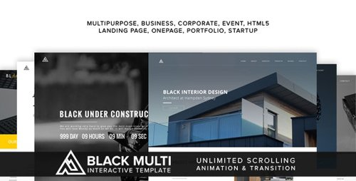 ThemeForest - Black v1.0 - Multi Interactive Template (Update: 21 August 17) - 19536576