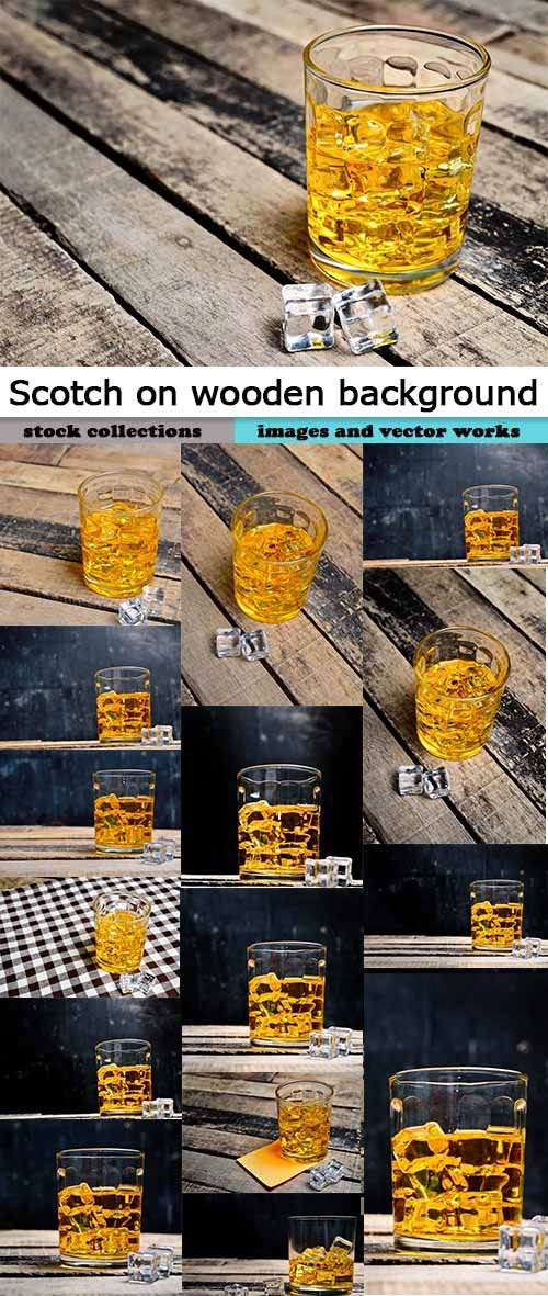 Scotch on wooden background