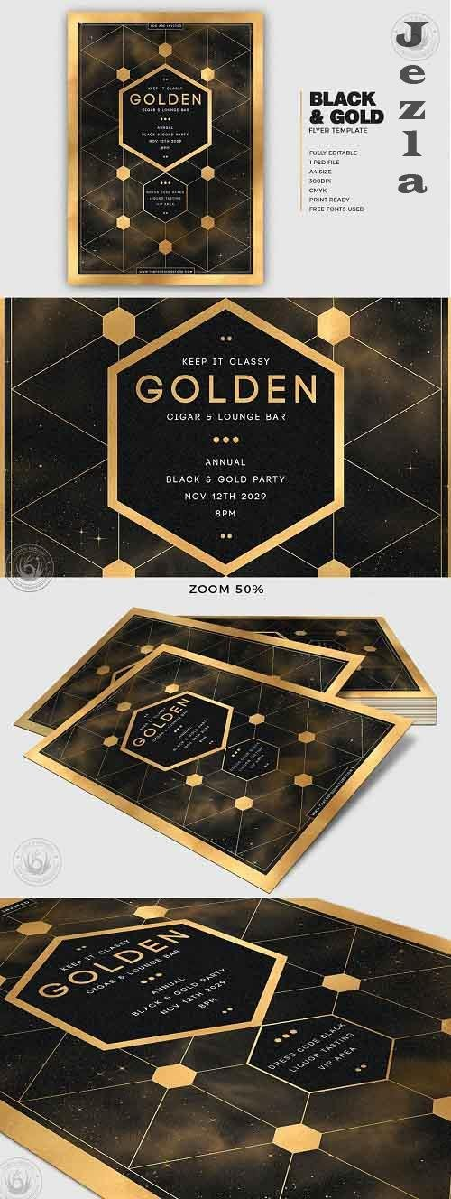 Black and Gold Flyer Template V21 - 5467196
