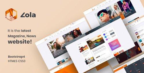 ThemeForest - Zola v1.0 - Magazine News HTML5 Template - 25263275