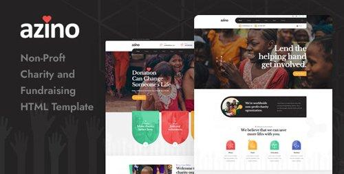 ThemeForest - Azino v1.0 - Nonprofit Charity HTML Template - 28399268