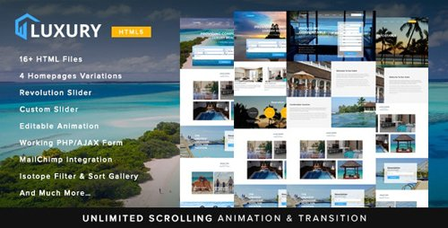 ThemeForest - Luxury v1.0 - Interactive Hotel Template (Update: 1 December 17) - 20501867