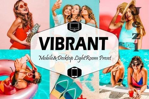 10 Vibrant Mobile & Desktop Lightroom Presets, color pop LR - 729640