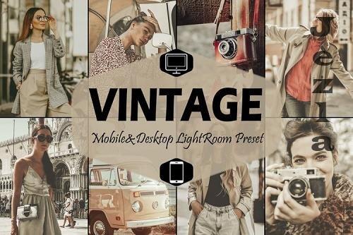 18 Vintage Mobile & Desktop Lightroom Presets, retro presets - 831205