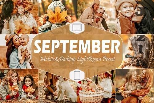 10 September Mobile & Desktop Lightroom Presets, fall Filter - 840367