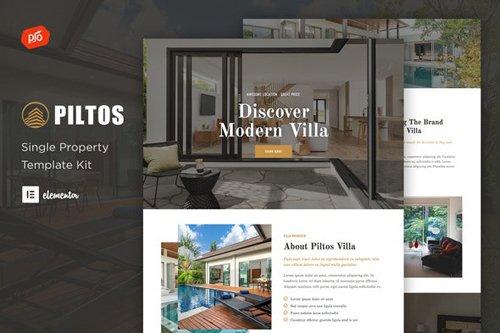 ThemeForest - Piltos v1.0 - Single Property Elementor Template Kit - 28833266