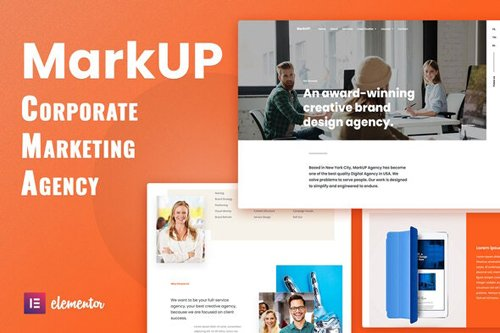 ThemeForest - MarkUP v1.0 - Corporate & Marketing Agency Elementor Template Kit - 28796373
