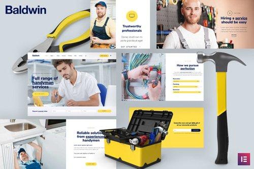 ThemeForest - Baldwin v1.0 - Handyman & Repair Services Elementor Template Kit - 28805890