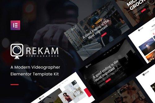 ThemeForest - Rekam Kit v1.0 - Modern Videographer Elementor Template Kit - 28757524