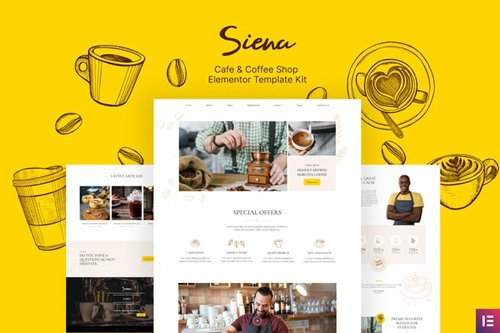 ThemeForest - Siena v1.0 - Cafe and Coffee Shop Template Kit - 28841328