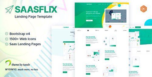 ThemeForest - Saasflix v1.0 - SaaS Software Landing Page Template (Update: 25 May 20) - 26565151