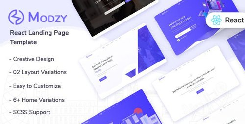 ThemeForest - Modzy v1.0 - React Landing Page Template - 28339357
