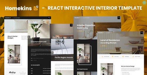 ThemeForest - Homekins v1.0 - React Interactive Interior Template - 28855102