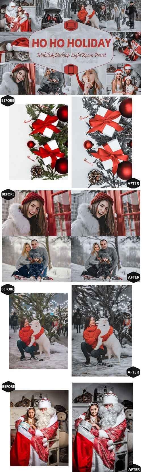 10 Ho Ho Holiday Mobile & Desktop Lightroom Presets, Xmas - 951516