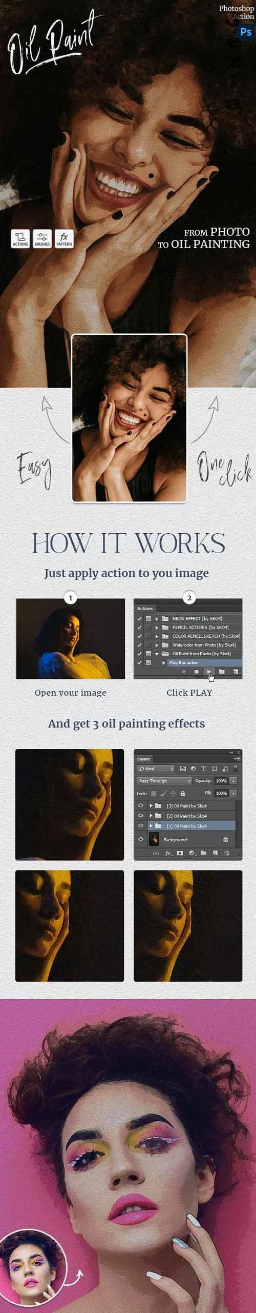 Oil Paint Photoshop Action 28825502