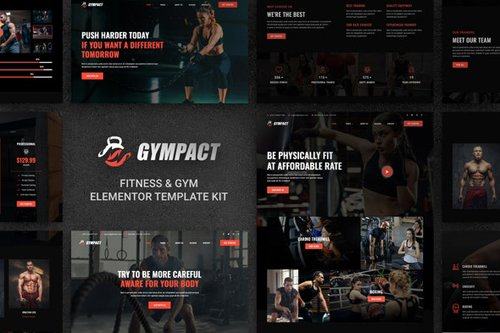 ThemeForest - Gympact v1.0 - Fitness & Gym Elementor Template Kit - 28822288
