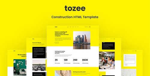 ThemeForest - Tozee v1.0 - Construction HTML Template - 28869327