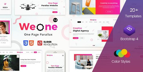 ThemeForest - Weone v1.2 - One Page Parallax HTML5 - 23106896