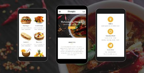 ThemeForest - Hungry v1.0 - Food and Restaurant Mobile Template - 19816734